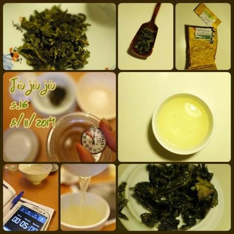 Oolong tea tasting notes.