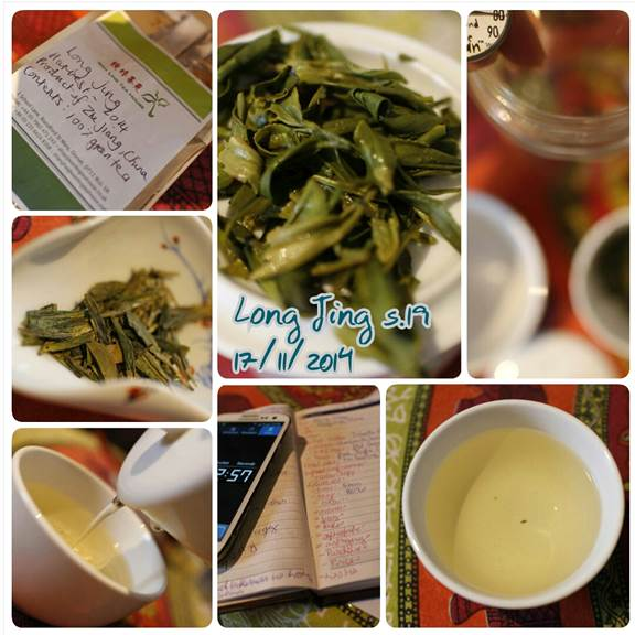Long Jing Green Tea Tasting Notes. Famous Chinese Green tea.