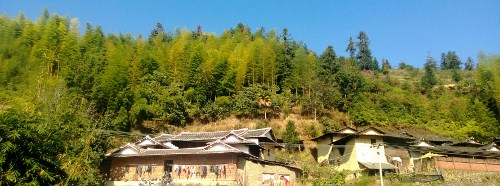 Traditional rammed earth building in XiangHua village. Tea Travels 2013. AnXi Tie Guan Yin Oolong Tea.