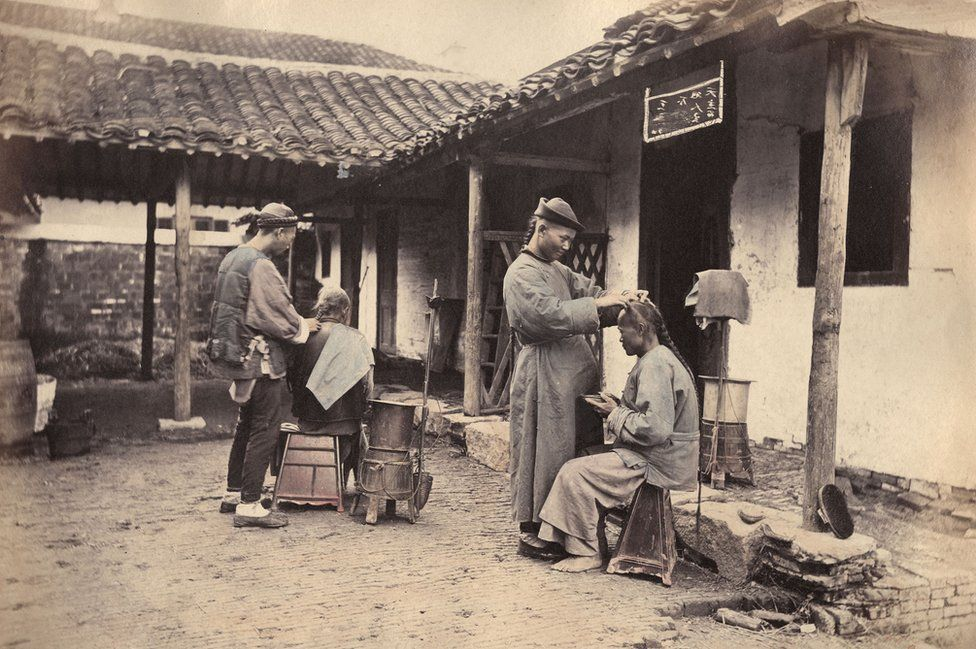 Shanghai 19th century hairdressers