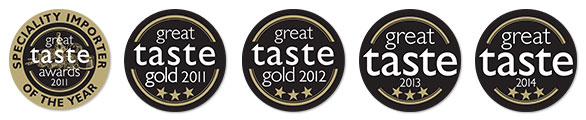 Great Taste Awards - Gold Winner 3 years in a row
