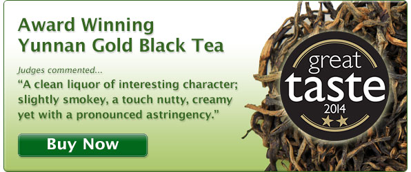Yunnan Gold Black Tea - Great Taste Awards 2014 - Two Star Gold Winner