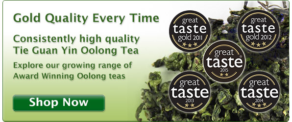 Tie Guan Yin Oolong - Great Taste Awards - Gold Winner 5 years in a row