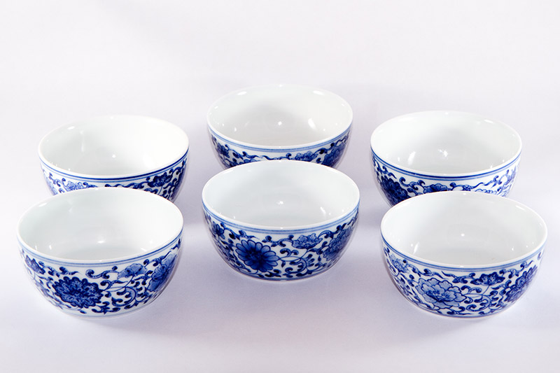 Blue And White Jingdezhen Flower Pattern Tea Cup 187 Jing De